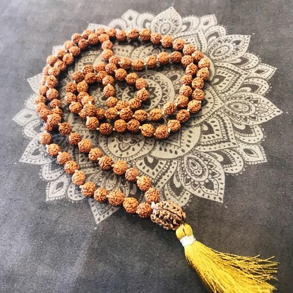 ルドラクシャ(菩提樹の実)マーラーの画像