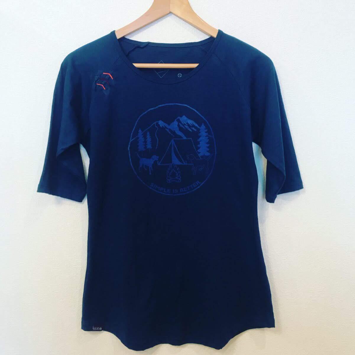 ラグランTシャツ わんことキャンプ ネイビー画像