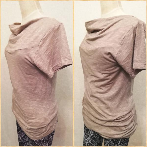 放物線的襟+袖ありシャツ画像