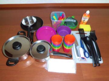 食器、調理器具セットの画像