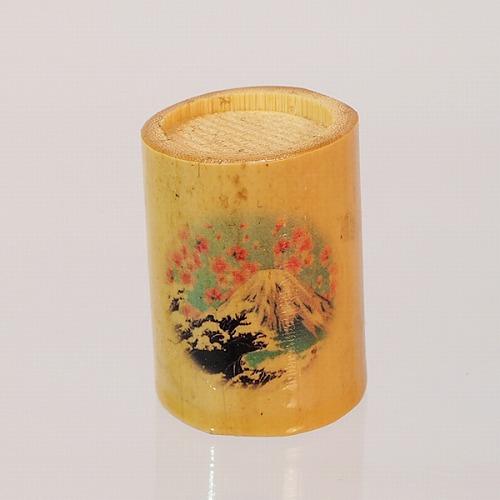 Bamboo Thimble(竹製 指貫き)・富士山&桜の画像