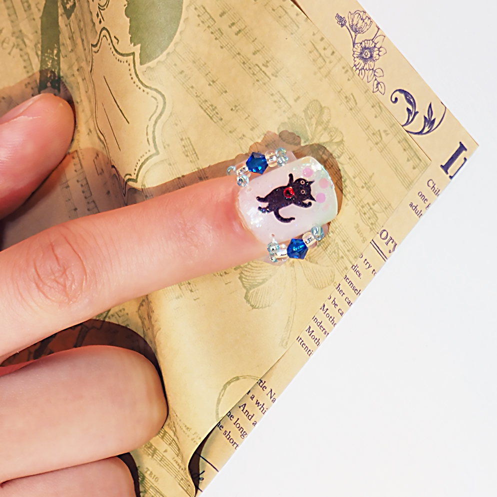 メクリナアート バブル猫ブルー画像