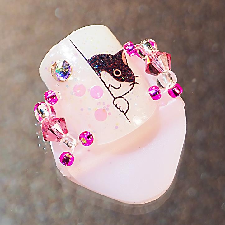 メクリナアート  覗き猫ピンクの画像