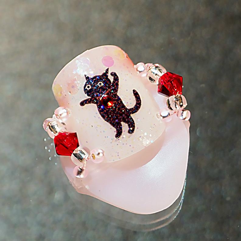 メクリナアート バブル猫ピンクの画像