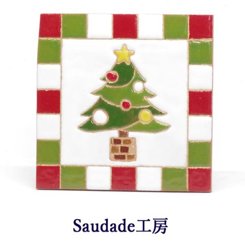 絵タイル「クリスマスツリー」100×100mm画像