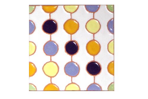 パターンタイル「ドット_しろ」75×75mmの画像