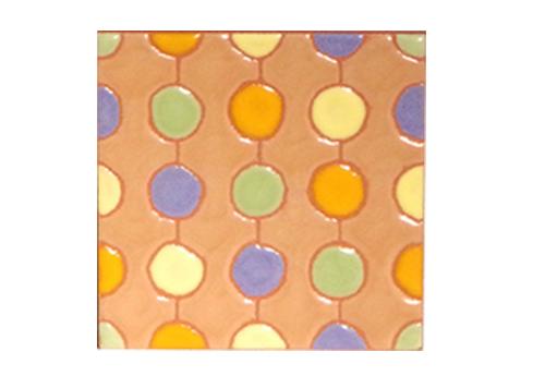 パターンタイル「ドット_しろちゃ」75×75mm画像