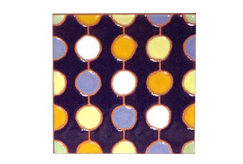 パターンタイル「ドット_こん」75×75mmの画像
