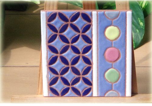 パターンタイル「七宝と舞玉」75×75mmの画像