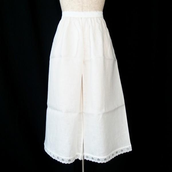 和小物さくら SACRA リネンキュロット L寸 麻100% / 肌着 下着 ステテコ 裾よけ / 単衣・夏着物に / 正規品新品 即日発送可画像