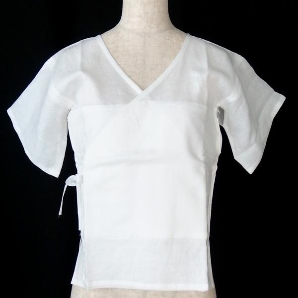 和小物さくら SACRA リネン汗取り肌着 M 麻100% / 麻わた使用 下着 肌襦袢 / 単衣・夏着物に / 正規品新品 即日発送可の画像