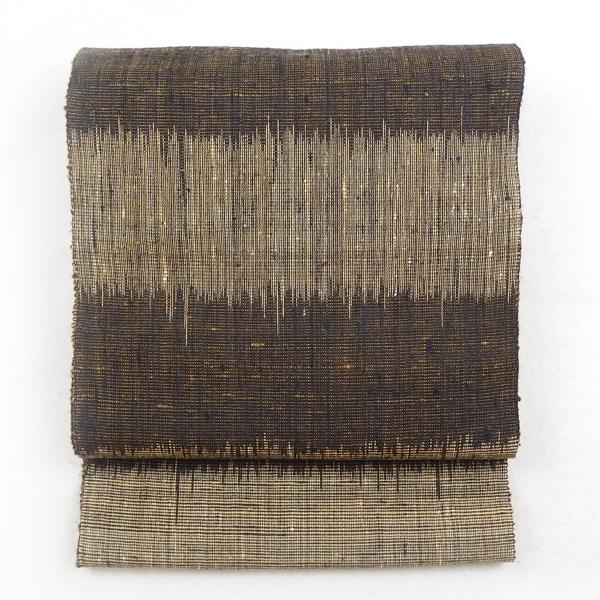 帯反物 / 織匠田歌(とうた) 大乗糸の八寸名古屋帯 手織 反物 / 天然素材 野蚕のもつ素朴な風合い / お仕立て代込 / 新品 正規品の画像
