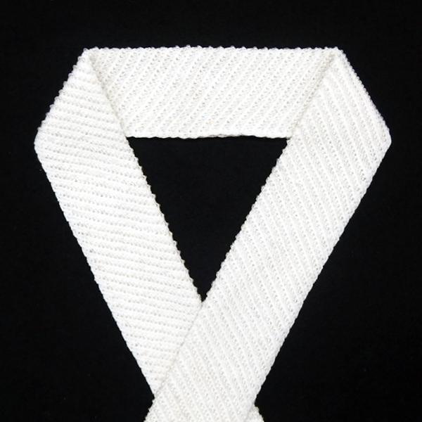 半衿 半襟 / 白×ガラスビーズ 華やかな襟元のお洒落に 綿100% 手洗い可能 / セレクト新品の画像