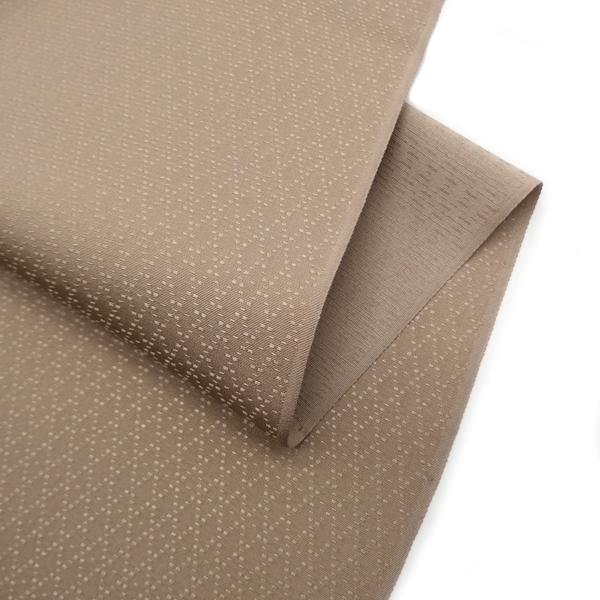 貴久樹 ナチュラルタッサー雪織(花織のような地紋) 着尺 / 香染色 / 色無地 野蚕糸 日本の絹 花織 / 袷・単衣に / 正規品 新品画像