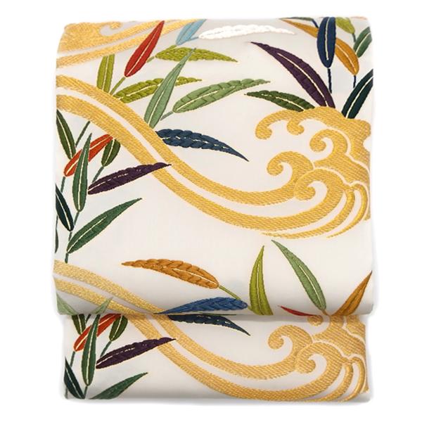 鈴木織物 袋帯 / 「笹に波濤文様」 / 西陣織 / 織文意匠鈴木 礼装 正装 フォーマルに / 正規品の画像