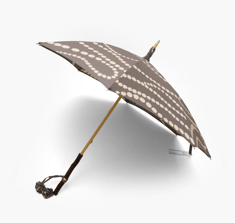 内藤早苗 注染の日傘 「真珠の首飾り」 / グレージュ 綿麻画像
