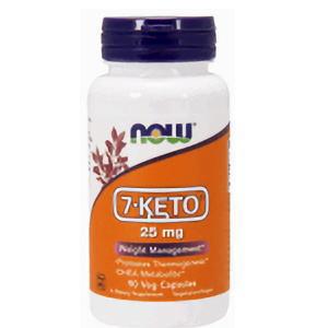 7-KETO 25mg 90植物性カプセル】 ナウフード社製  DHEA代謝物質 画像