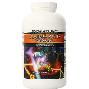 アミノ酸 2200mg 325タブレット 除脂肪体重キープ Vitlabsの画像