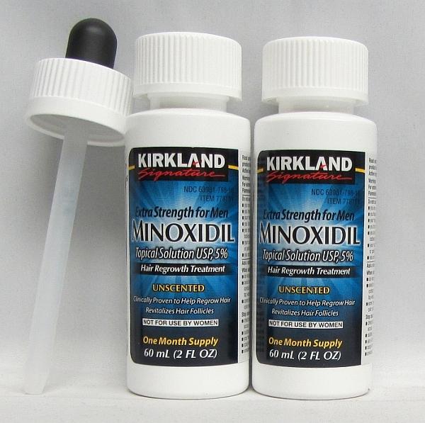 カークランド 【男性用ミノキシジル 5%リキッドタイプ】 2本 ラージスポイド付きの画像