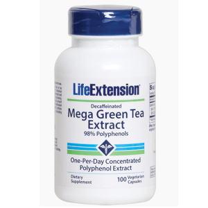 メガ・グリーンティーエキス(緑茶エキス)カフェイン抜き 100 カプセルの画像