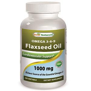 フラックスシードオイル(亜麻種子油) 1000mg 240ソフトジェル画像