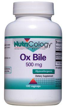 オックス バイル(牛胆汁エキス) 500mg 100カプセルの画像