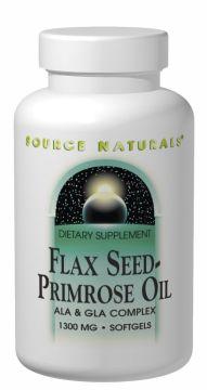 亜麻種子と月見草のオイル 180ソフトジェル Flax Seed-Primrose Oil #1143の画像