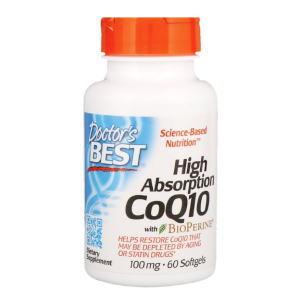 coq10 コエンザイムQ10 バイオペリン入り 100 mg 60ソフトジェル ドクターズベスト画像