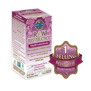 生レスベラトロール RAW Resveratrol 60カプセル(350mg発酵レスベラトロール配合)画像