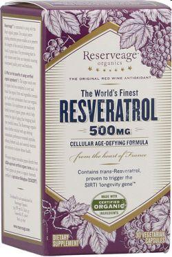 レスベラトロール 【500mg  60植物性カプセル】 (Resveratrol 500 )#28190の画像
