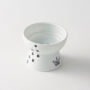 猫壱 ハッピーダイニング 脚付おやつ皿 猫柄の画像