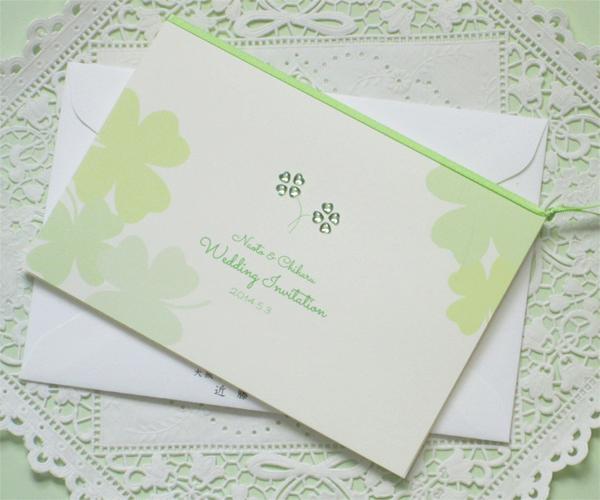 kirara clover (キララクローバー)【印刷込】招待状セットの画像