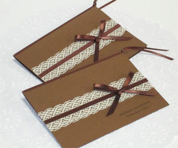 モカ 【印刷込】招待状セットの画像