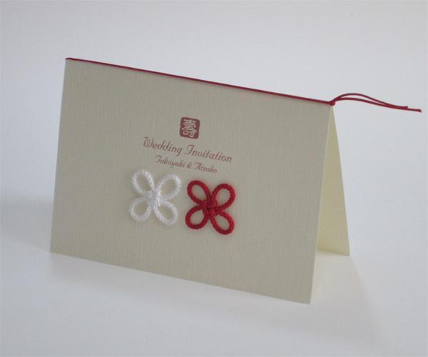 薄絹【手作り】招待状セット画像