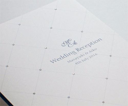 マチュール クリスタル【印刷込】一体型席次表の画像