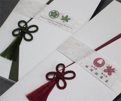 家紋<白無垢/千歳緑・京紫> サンプル の画像