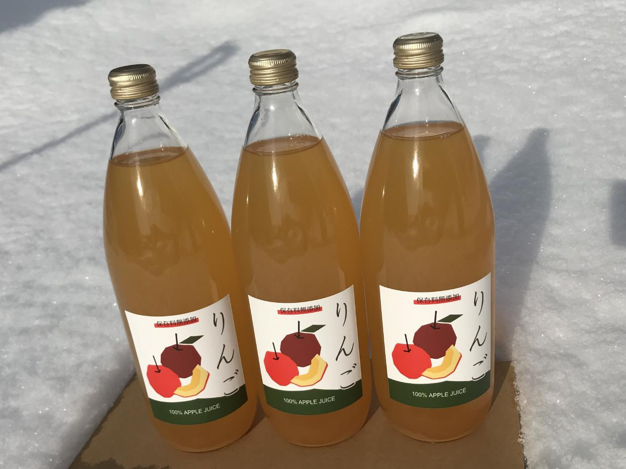 りんごジュース(ふじ、ジョナゴールド)1L 6本画像