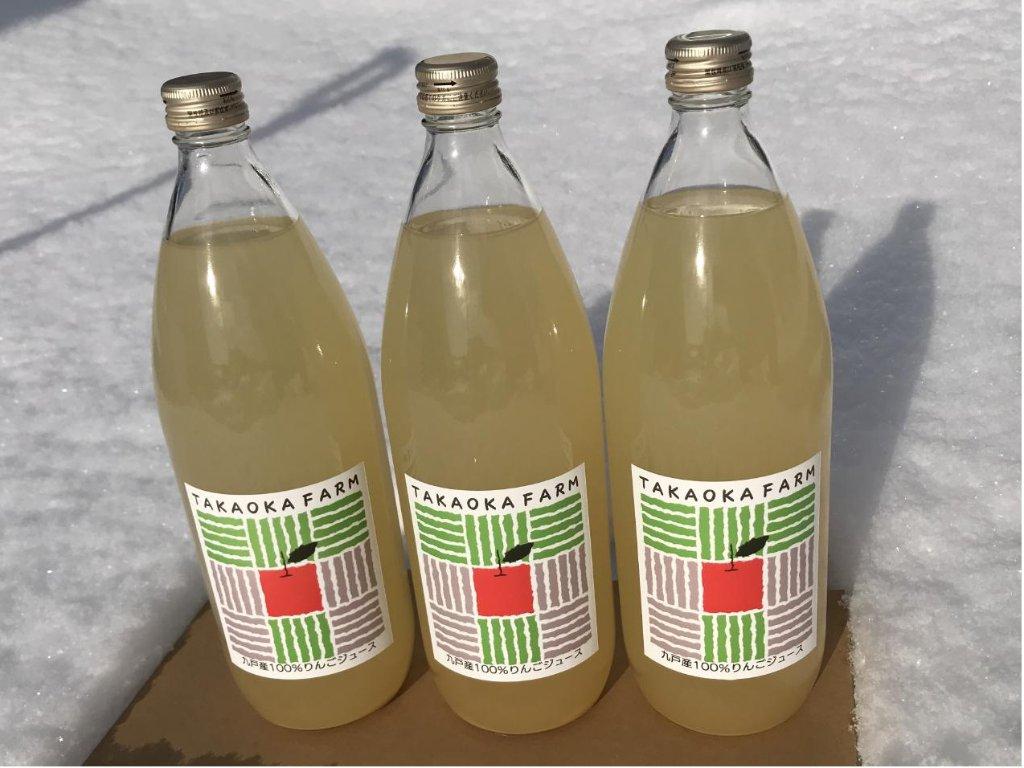 りんごジュース(ジョナゴールド)1L 6本の画像