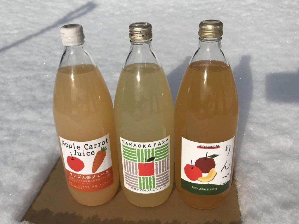 リンゴジュースセット リンゴジュース4本リンゴ人参ジュース2本 計6本の画像