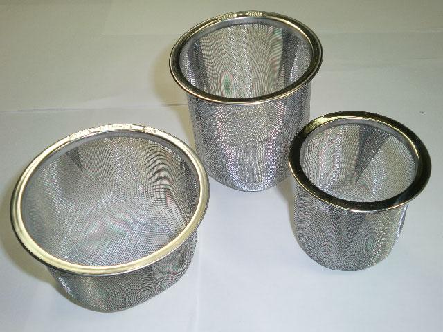 ステンレス製茶漉しの画像
