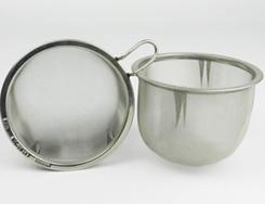 オールステンレス製の茶漉し