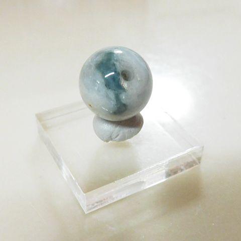 糸魚川産翡翠13mmビーズ2の画像