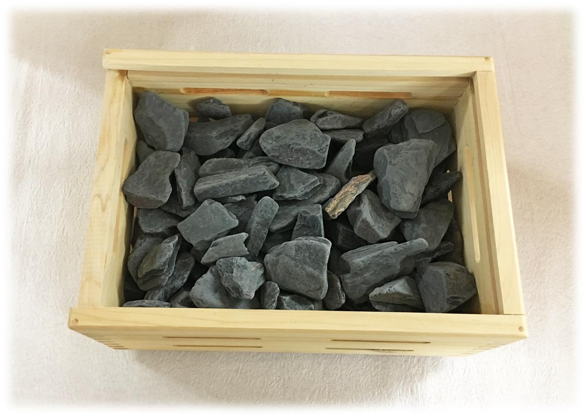ヤフー店共通品 ブラックシリカの湯 原石800g入り画像