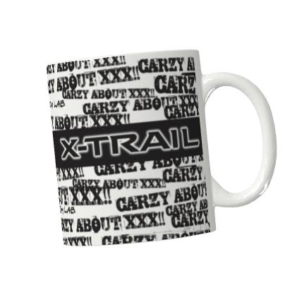 カスタムラボ オリジナルマグカップ(CRAZY ABOUT X-TRAIL)画像