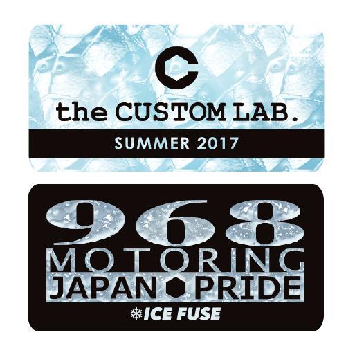ステッカー2Pセット CUSTOM LAB.& 968 Motoring 2017SS【数量限定】の画像