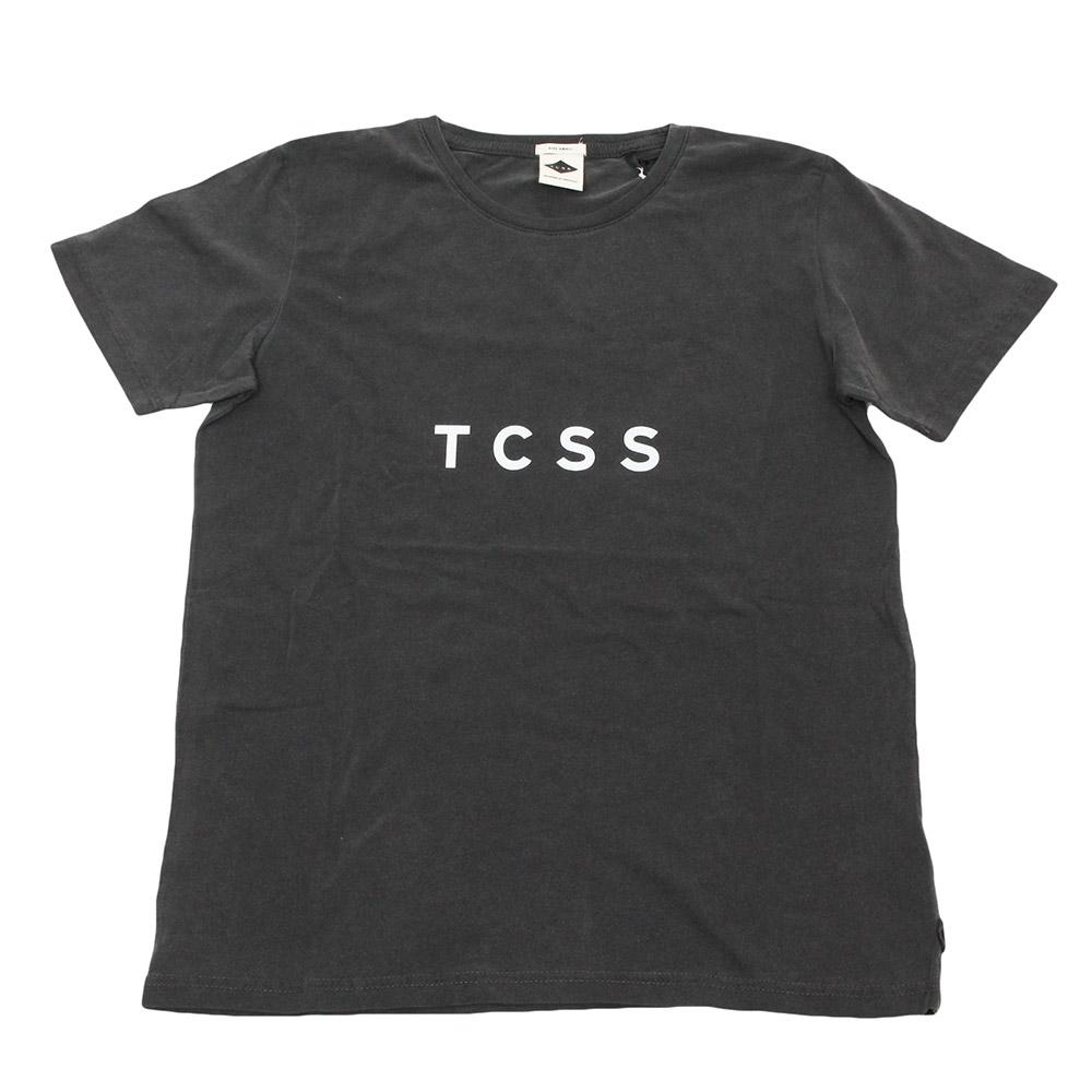 TCSS/ティーシーエスエス カットソー ダークグレー サーフ ワンポイントロゴの画像
