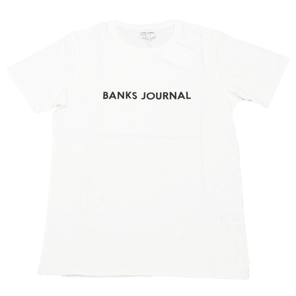 BANKS / バンクス カットソー ワンポイントロゴ ホワイト サーフの画像