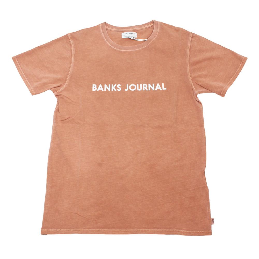 BANKS / バンクス カットソー ワンポイントロゴ モカ茶 サーフの画像