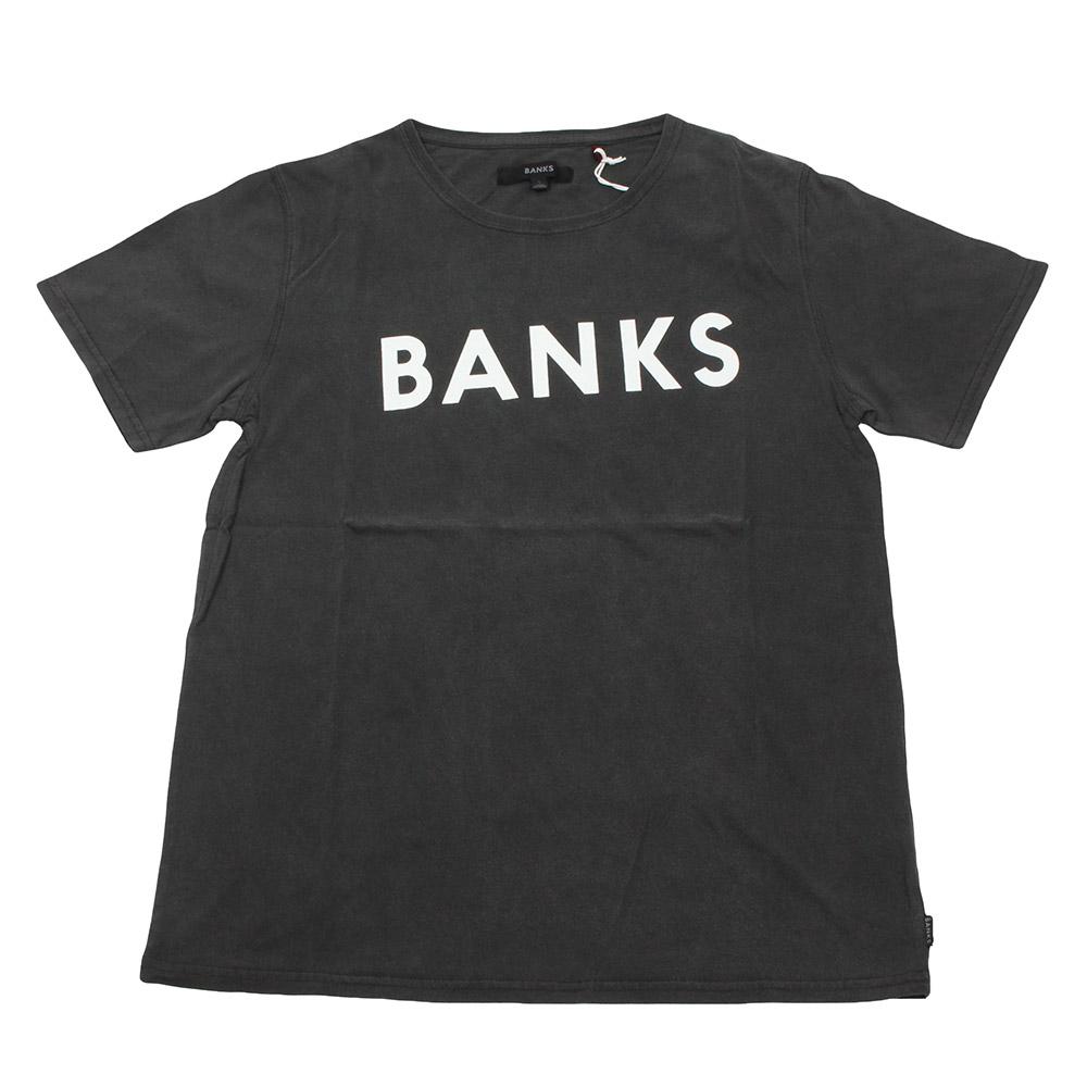 BANKS / バンクス カットソー ワンポイントロゴ  ダークグレー サーフの画像