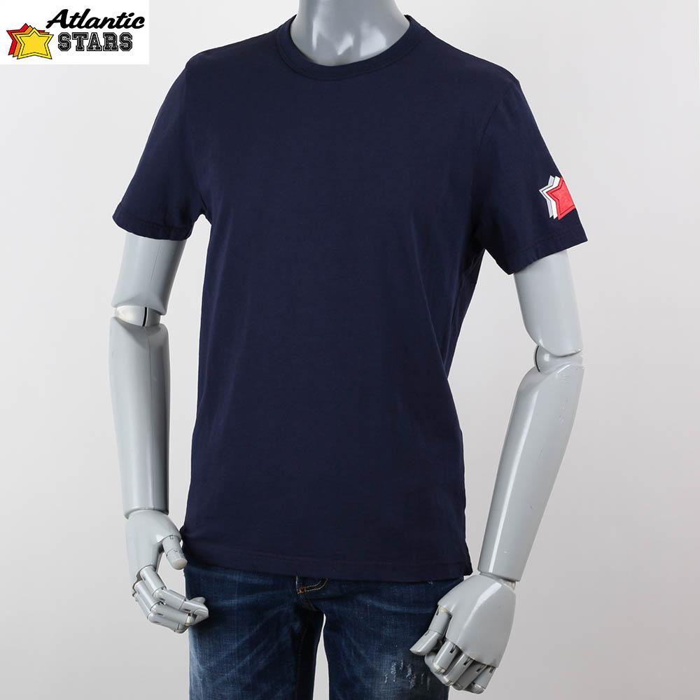 Atlantic STARS アトランティックスターズ バックプリント メンズ  Tシャツ ネイビー 2018ss ams1847の画像